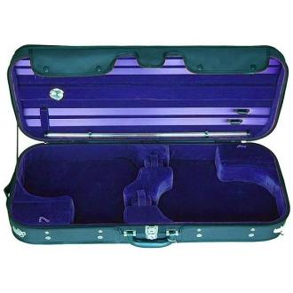 Футляр для 2-х скрипок Petz MOVI2, черный-синий