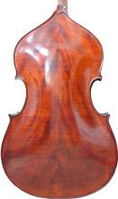 Контрабас YB60DBS из цельного дерева с фактурой лучей,  в комплекте - смычок, чехол, канифоль