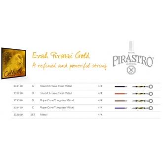 Комплект струн для виолончели PIRASTRO Evah Pirazzi Gold
