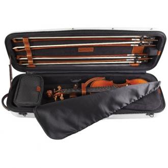 Футляр для скрипки GL Hi-Tec Carbon, белый перламутр