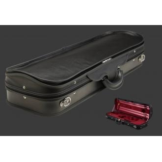 Футляр для скрипки Negri Milano Leather, черный/красный