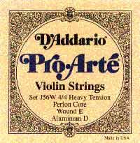 Струна для скрипки Ми D'ADDARIO Pro Arte, алюминий
