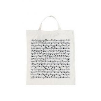 Сумка для нот из ткани - цвет Белый/черный