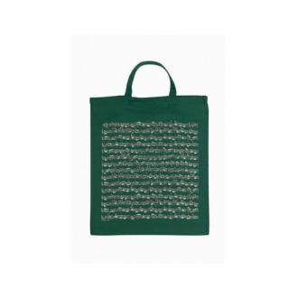 Сумка для нот из ткани - цвет Зеленый/белый