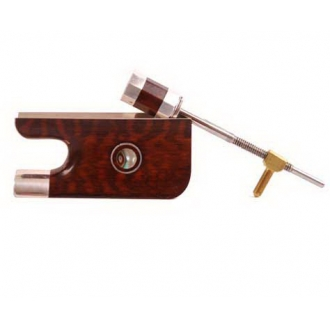 Колодка для виолончельного смычка - змеинное дерево, серебро