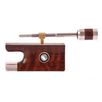 Колодка для скрипичного смычка - змеинное дерево, серебро