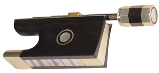 Колодка для скрипичного смычка - черное дерево, серебро