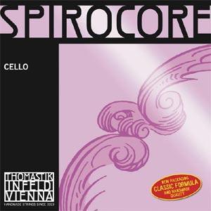 Струна для виолончели Ля THOMASTIK Spirocore, хромсталь