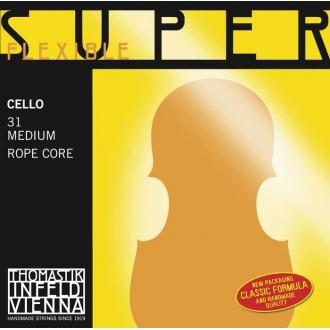 Струна До THOMASTIK Superflexible для виолончели, серебро