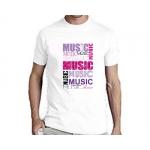 Мужская футболка I ❤ Music, белая