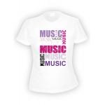 Футболка женская I ❤ Music, белая