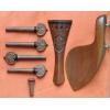 Комплект оснастки для скрипки - из Boxwood'a (с резьбой)