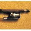 Колодка для виолончельного смычка - рог буйвола (черный), серебро