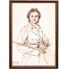 Портрет скрипача-виртуоза Никколо Паганини