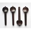 Комплект колков для скрипки Mericourt - палисандр, вставки из кости (шарик)