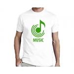 Мужская футболка белая MUSIC
