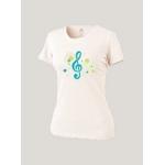 Женская футболка белая G-Clef-dots
