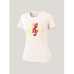 Женская футболка белая Merry Clef Red