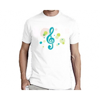 Мужская футболка белая G-Clef-dots