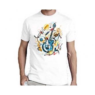 Мужская футболка Music Mood, белая