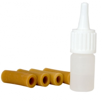 Комплект сменных резинок для ножек мостика Wolf, с флаконом масла