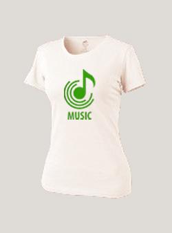 Женская футболка белая MUSIC